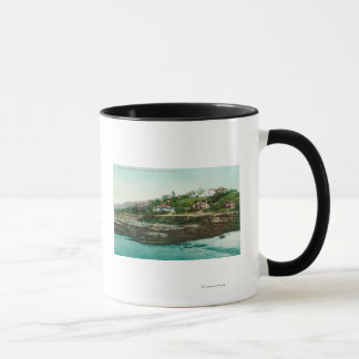 Aerial View of Cottages and Beach at la Jolla Mug