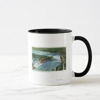 Aerial View of Entire Niagara Falls 2 Mug