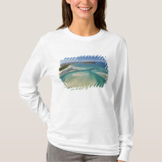 Aerial view of estuary, Sawyer Bay, Stanley and T-Shirt