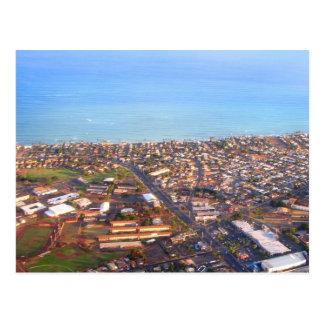 Aerial View of Honolulu Coastline, Oahu, Hawaii Postcard