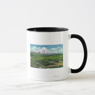 Aerial View of Hood River Valley and Mountain Mug
