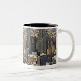 Aerial view of Philadelphia, Pennsylvania Two-Tone Coffee Mug