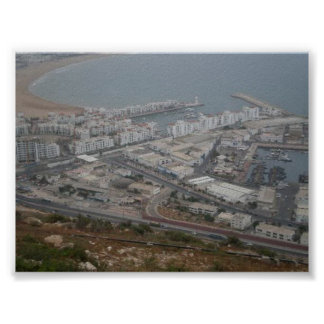 Aerial View of Port-d-Agadir, Morocco - Poster