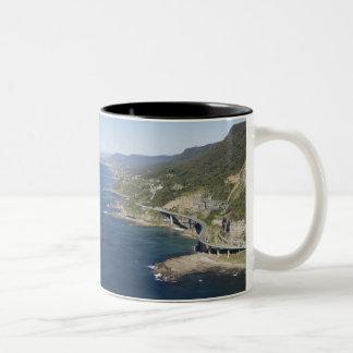 Aerial view of Sea Cliff Bridge near Wollongong, 2 Two-Tone Coffee Mug