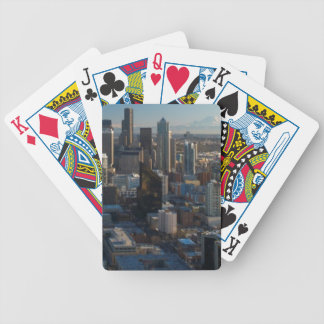 Aerial view of Seattle city skyline Bicycle Playing Cards