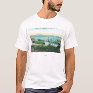 Aerial View of Vallejo Waterfront and Mare Islan T-Shirt