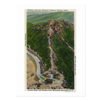 Aerial View of Winding Trail, Castle, Summit Postcard