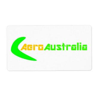 AeroAustralia Box Sticker (Large) Shipping Label