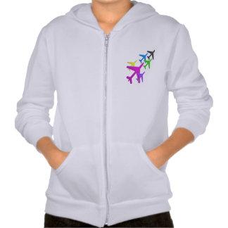 AEROPLANE cadeaux pour les enfants flotte d'avion Hooded Sweatshirt
