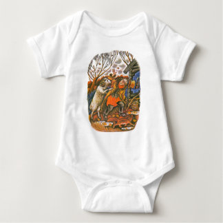 Aesop's fables illustrations baby bodysuit