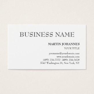 Aesthetic Professional Chic White Business Card
