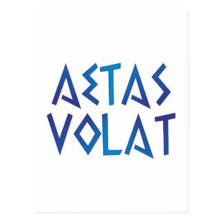 aetas volat the time flies latin latin post card