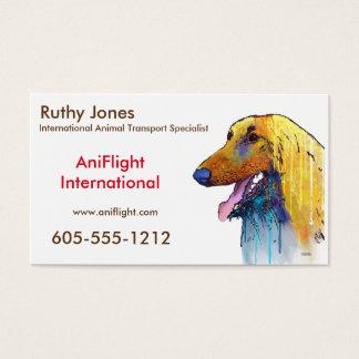 Afghan Hound Dog Business Card