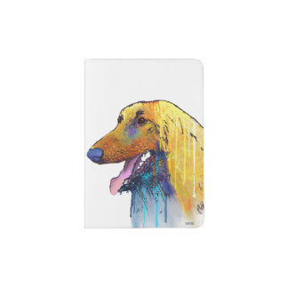 Afghan Hound Dog Passport Holder