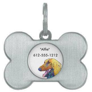 Afghan Hound Dog Pet ID Tag