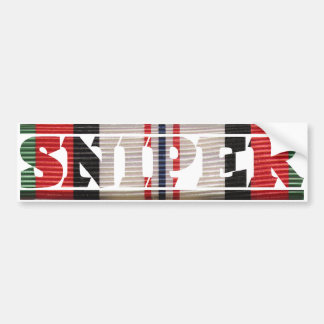 Afghanistan Campaign Ribbon Sniper Bumper Sticker
