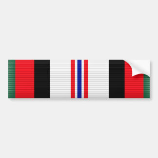 Afghanistan Campaign Service Ribbon Bumper Sticker