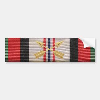 Afghanistan Campaign SF Crossed Arrows Sticker Bumper Sticker