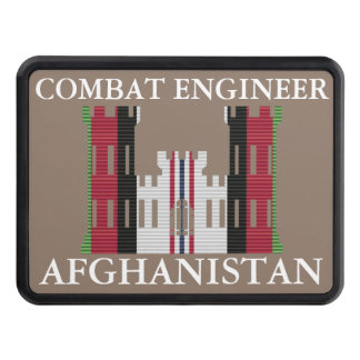 Afghanistan Combat Engineer Insignia Hitch Cover