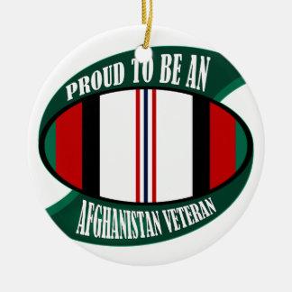 Afghanistan Vet Round Ceramic Decoration