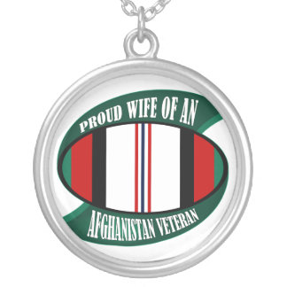 Afghanistan Vet Wife Round Pendant Necklace