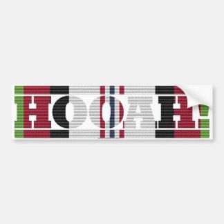 Afghanistan Veteran HOOAH! Bumper Sticker