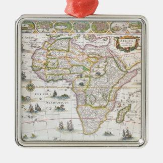 Africa Nova, c.1617 Silver-Colored Square Decoration