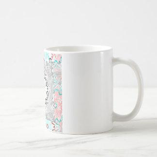 Africa Pink Cyan geometry Basic White Mug