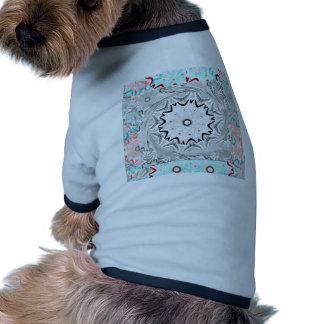 Africa Pink Cyan geometry Doggie Tshirt