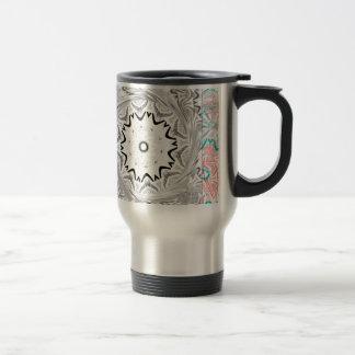 Africa Pink Cyan geometry Stainless Steel Travel Mug