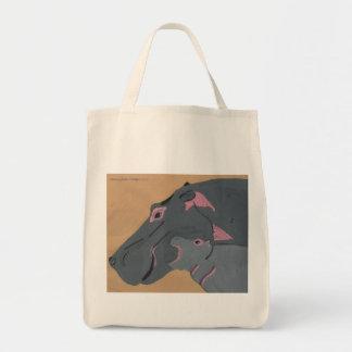 Africa, the small hippopotamus tote bag
