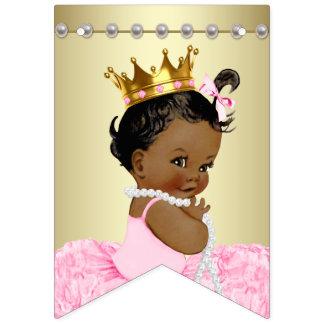 African American Ballerina Tutu Pearls Baby Shower Bunting