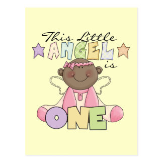 African American Girl 1st Birthday Gifts Postcard
