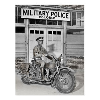 African American Military Police Postcard
