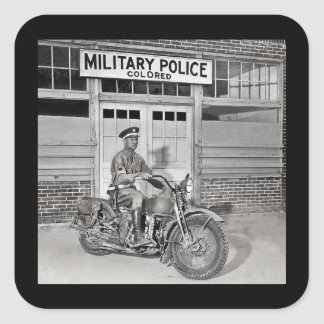 African American Military Police Square Sticker