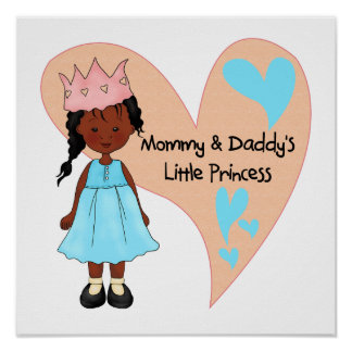 African American Mommy and Daddy's Princess Poster