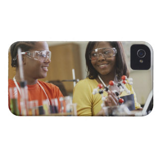 African American teenagers in science class iPhone 4 Case-Mate Case