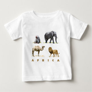 african animals lion, elephant, camel, baboon baby T-Shirt