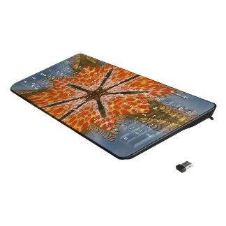African Cheetah Print Wireless Keyboard