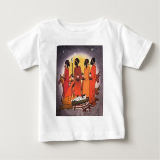 African Christmas Nativity Scene Baby T-Shirt