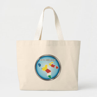 African country buttons large tote bag