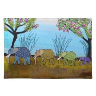 African Elephant Habitat American Mojo Placemats