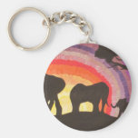 African Elephants Sunset (Kimberly Turnbull Art) Keychains
