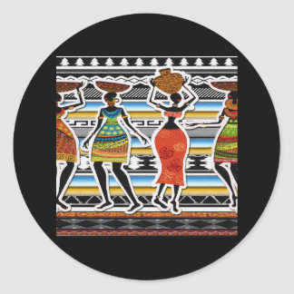 African Feast Classic Round Sticker