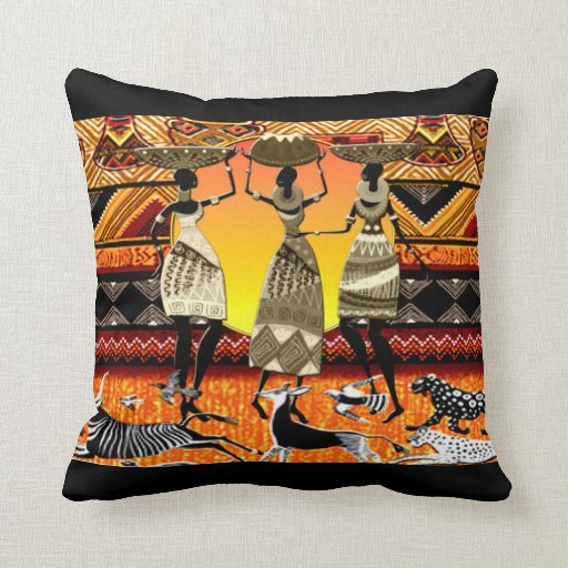 African Feast Pillows