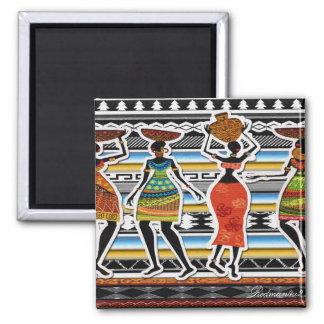 African Feast Fridge Magnets