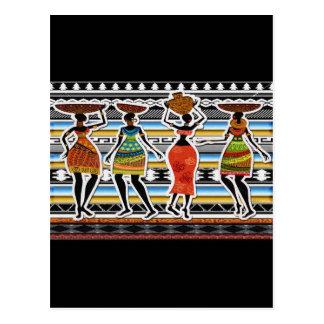 African Feast Postcard