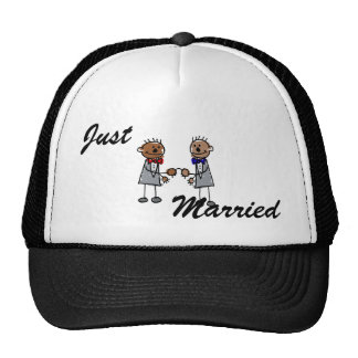 African Gay Couple Mesh Hats