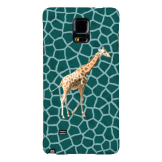 African Giraffe on Blue Camouflage Galaxy Note 4 Case