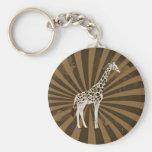 African Giraffe Original Art Key Chains